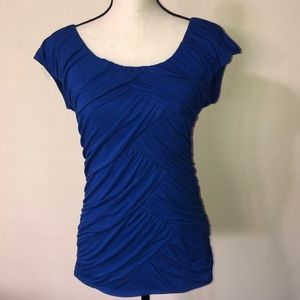 Maurices Stretchy Blue Rayon Top Size Medium